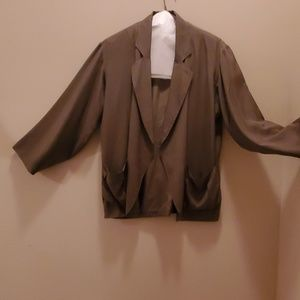 Silk Club Olive Green Fully Lined Jacket Size S